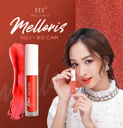 Son kem lỳ Melloris Velvet Lip Cream