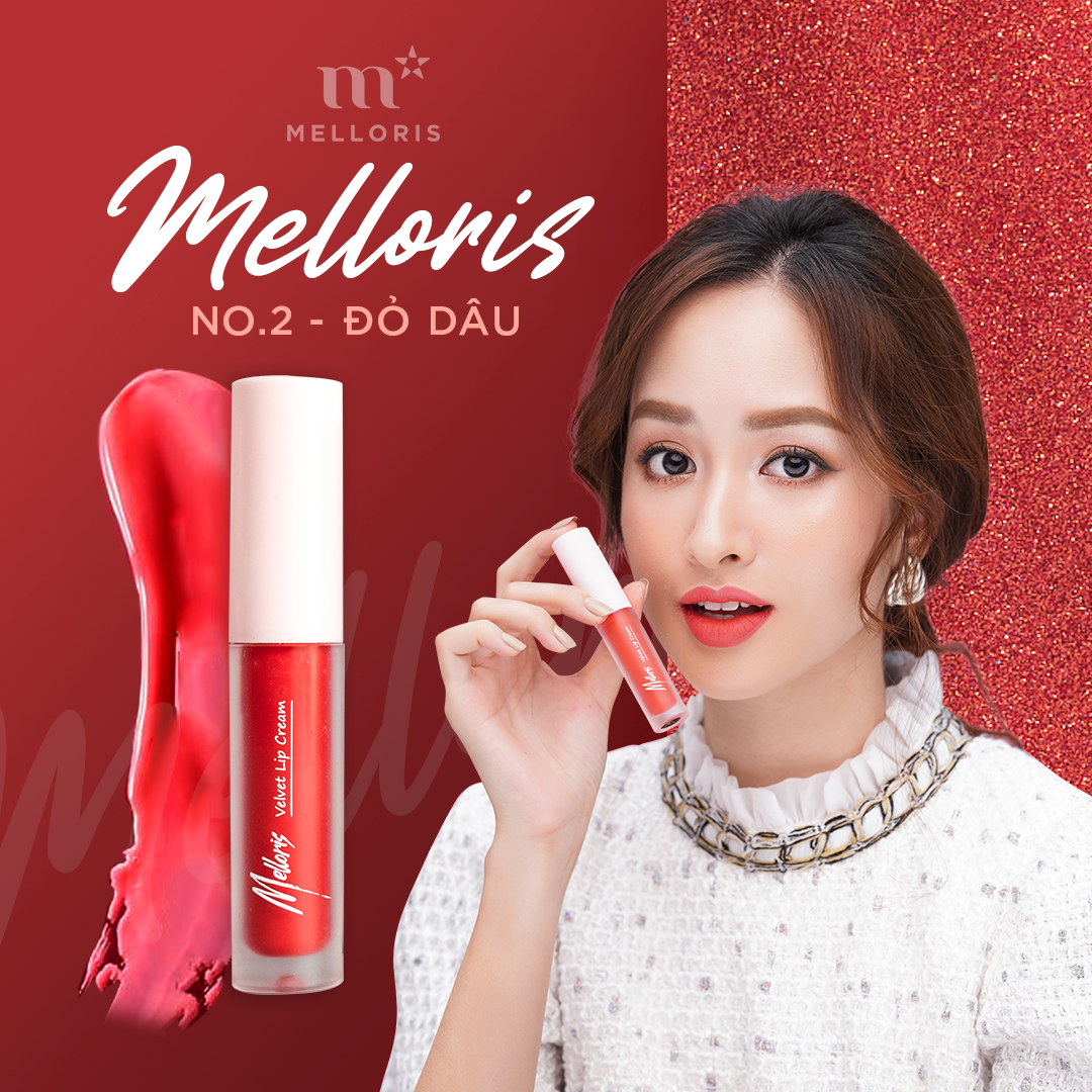 Melloris Velvet Lip Cream - #No2 Đỏ Dâu