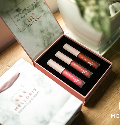 Combo Set 3 Son kem lỳ Melloris Velvet Lip Cream